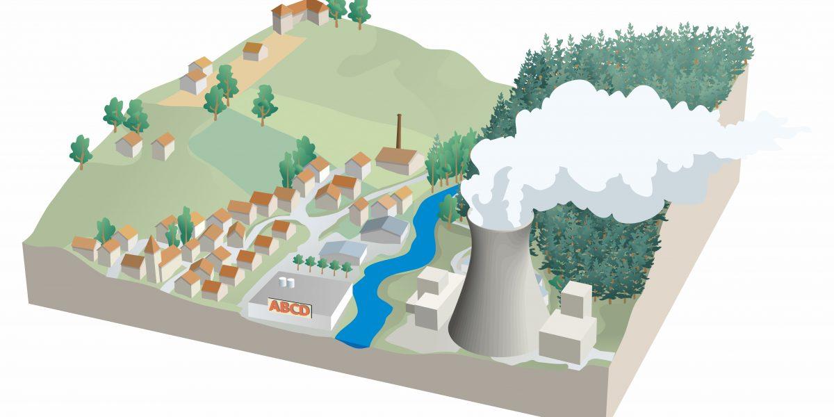 modelisation nuclear power plant